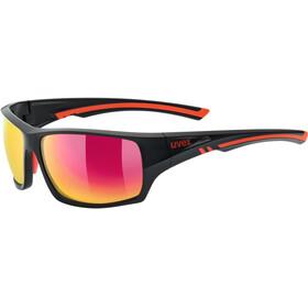 UVEX Sportstyle 222 Pola Sportglasses black matt red/mirror red